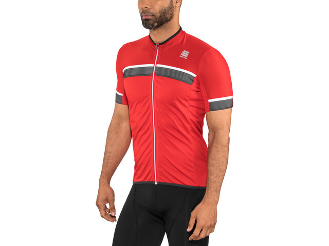Sportful Pista SS Jersey Men red/anthracite/white